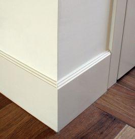 7. Aukštos dažyto MDF grindjuostės 200 mm aukščio
