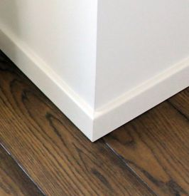 2. Veneered or painted skirting 50 mm height