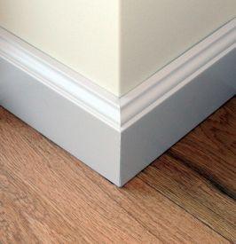 4. Klasikinės dažyto MDF grindjuostės 100 mm aukščio