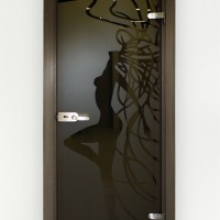 Varstomos dekoruoto stiklo durys