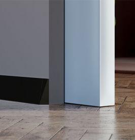 5. DELTA grindjuosčių profiliai (BALTI/JUODI) 70 mm aukščio